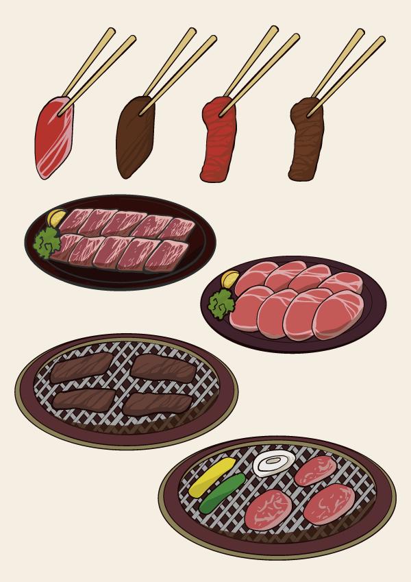 8月29日は焼肉の日焼肉のイラスト素材セット 特集 デジナーレカフェ