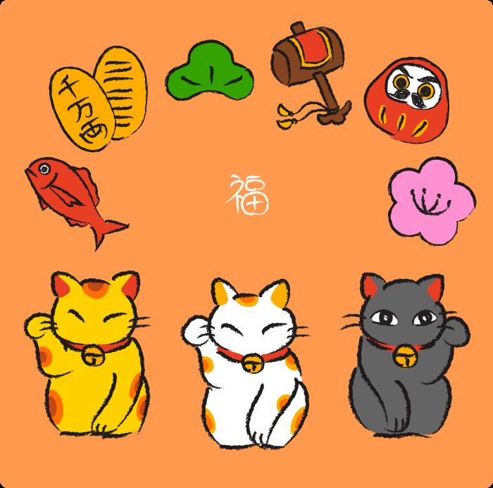招き猫セット1